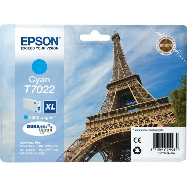 Epson DURABrite Ultra C13T70224010 Ink Cartridge - Cyan