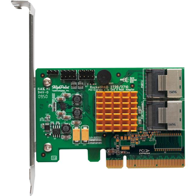 HighPoint Controller Card ROCKETRAID 2720SGL 8Port SAS/SATA 6Gb/s RAID LTO Tape/RAID Arrays