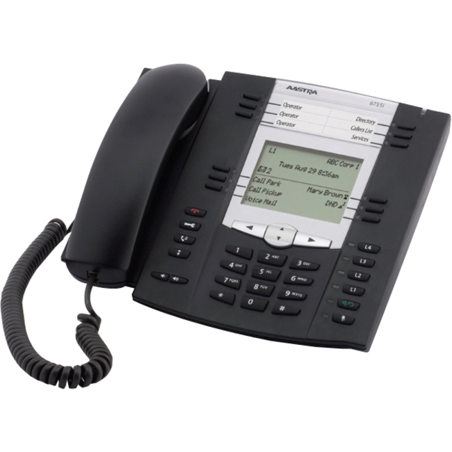 Aastra 6735i IP Phone - Cable - Desktop, Wall Mountable