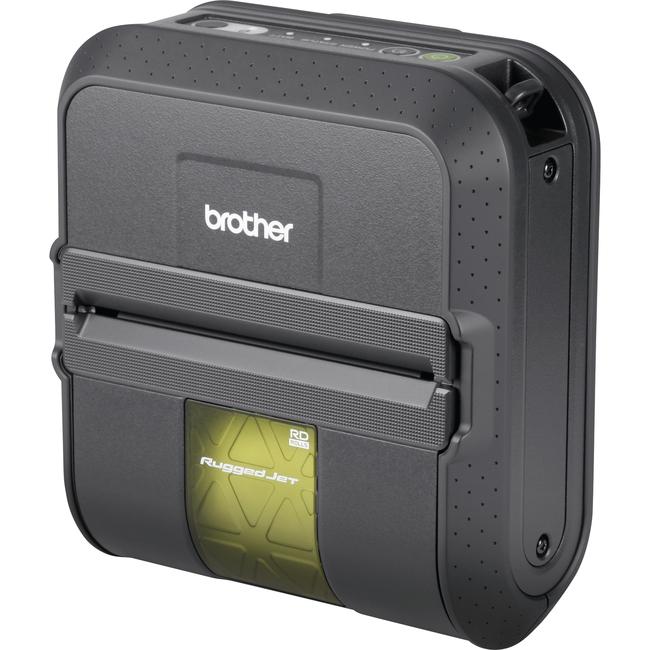 Brother RuggedJet RJ4040-K Direct Thermal Printer - Monochrome - Portable - Label Print