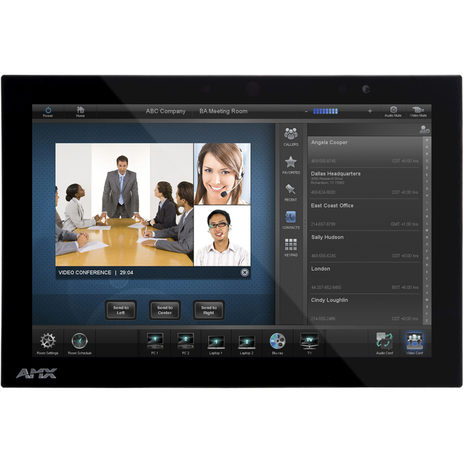 "AMX MXD-1000 10.1"" Modero X Series Wall/Flush Mount Touch Panel"