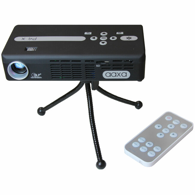 AAXA Technologies P4X Pico Projector Pocket Size - Rechargeable Battery 125 Lumen LED - HDMI Media Player