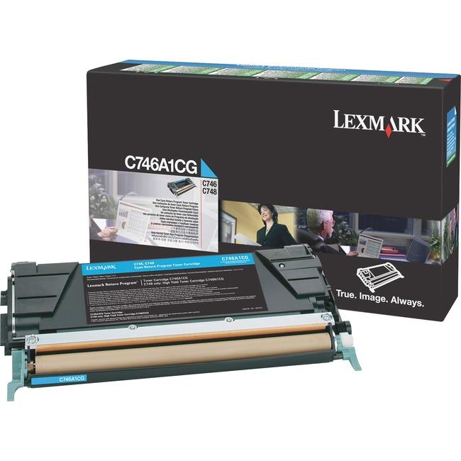 Lexmark C746, C748 Cyan Return Program Toner Cartridge