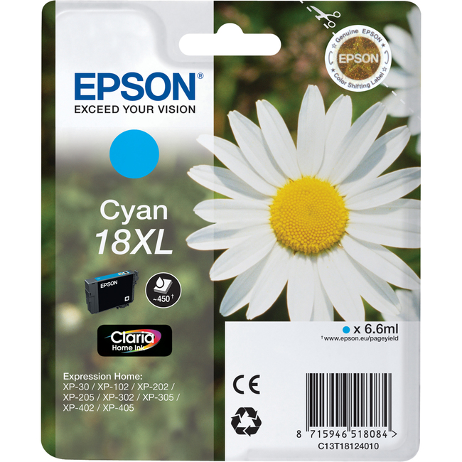 Epson Ink Cartridge - Cyan - Inkjet - 450 Page