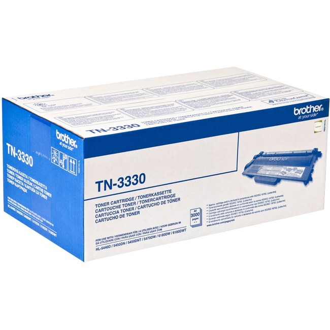 Brother TN-3330 Toner Cartridge - Black - Laser - 3000 Page