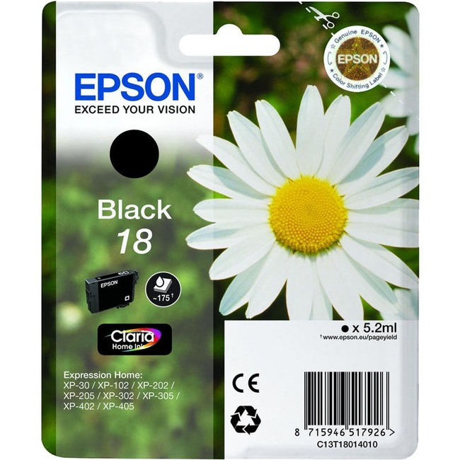 Epson Claria 18 Ink Cartridge - Black