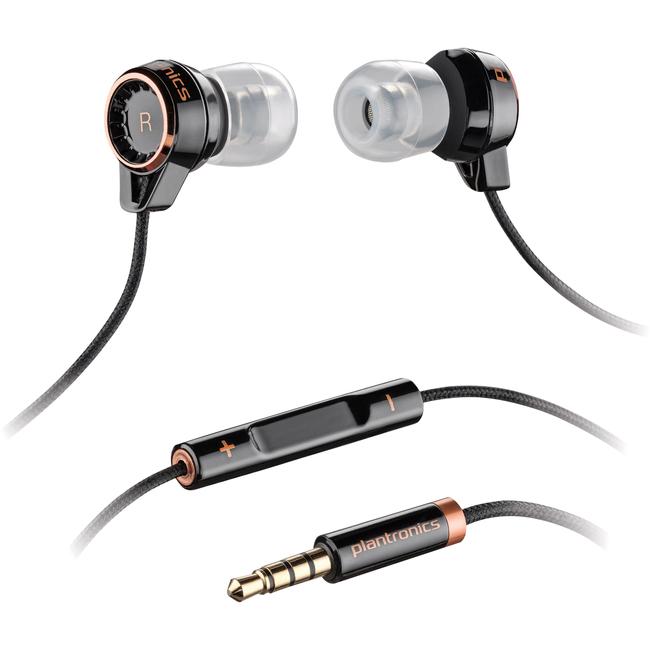 BACKBEAT 216 IN EAR HEADSET W/ MIC BLACK