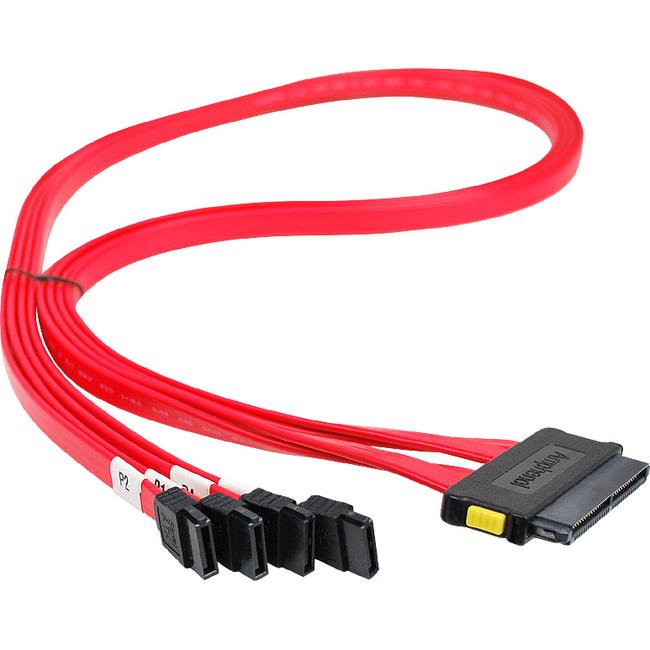 SIIG SCSI SAS Cable - SFF-8484 to 4x SATA - 75cm