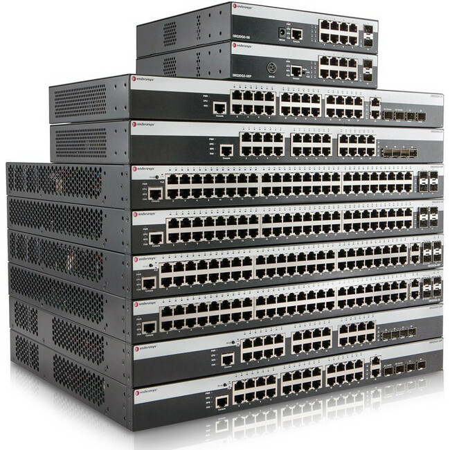 Enterasys 8 Port 10/100/1000 PoE (802.3at) 800-Series Layer 2 Switch with Dual 1Gb Uplinks