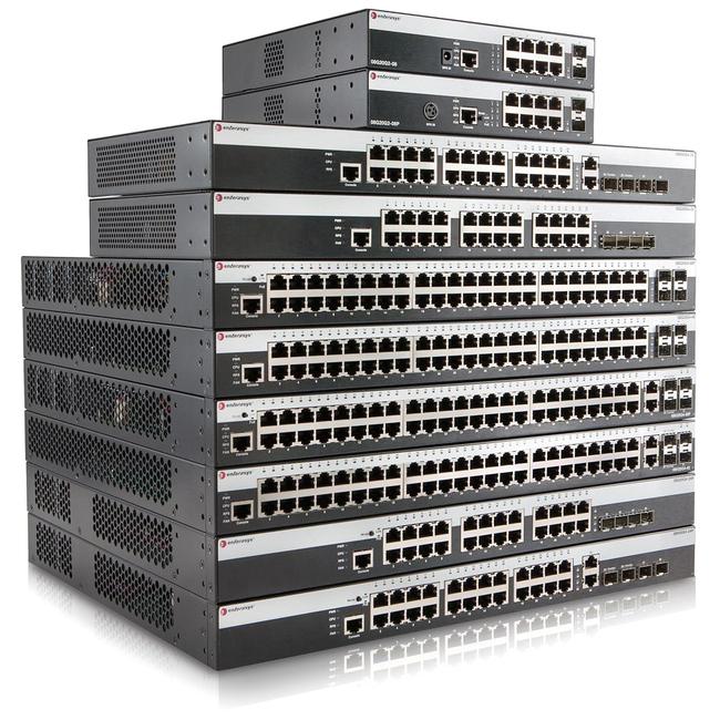 Enterasys 24 Port 10/100 800-Series Layer 2 Switch with Quad 1Gb Uplinks