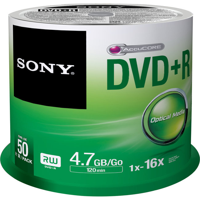 Sony DVD Recordable Media 50DPR47SP - Large
