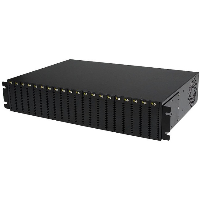 StarTech.com 20-Slot 2U Rack Mount Media Converter Chassis for ET Series 2