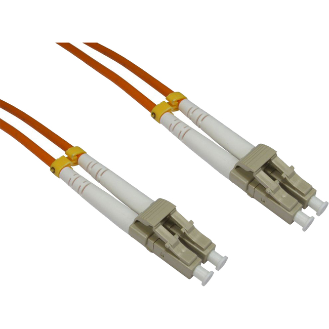 0.5m Cables Direct Fibre Optic Network Cable OM2  LC Male Network - 2 x LC Male Network - Orange