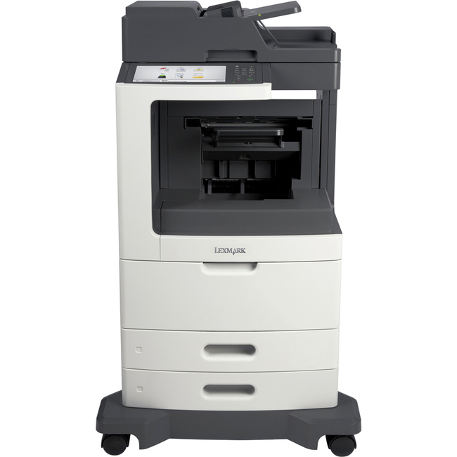 Lexmark MX812DFE Laser Multifunction Printer | Monochrome | Plain Paper Print | Desktop