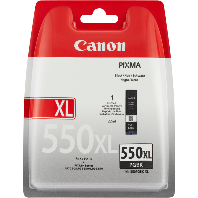 Canon PGI-550PGBK Pigment Black XL Ink Cartridge - 6431B004