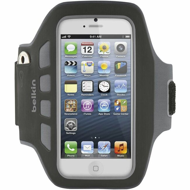 Belkin Ease-Fit Plus Carrying Case (Armband) for iPhone - Blacktop