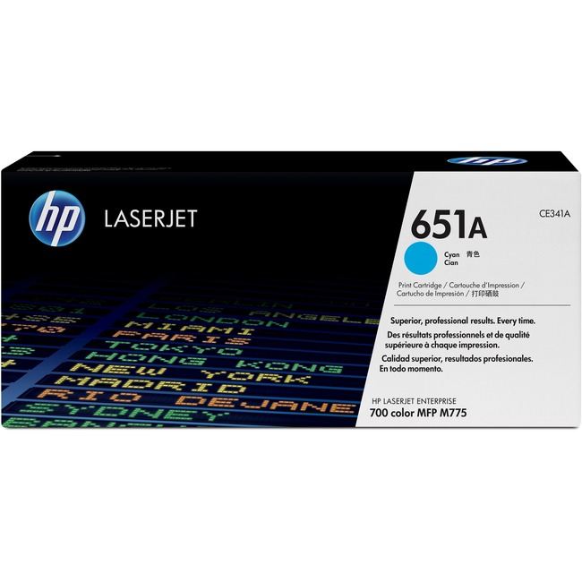 HP 651A Toner Cartridge - Cyan