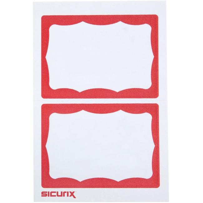 SICURIX Self-adhesive Visitor Badge
