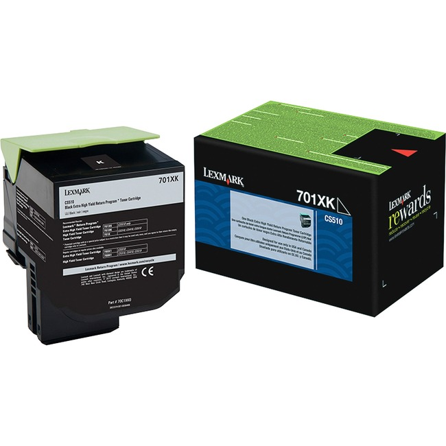 Lexmark 701XK Black Extra High Yield Return Program Toner Cartridge