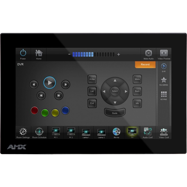 AMX MXD-700-L-NC, Landscape Wall Mount Touch Panel (no Microphone)