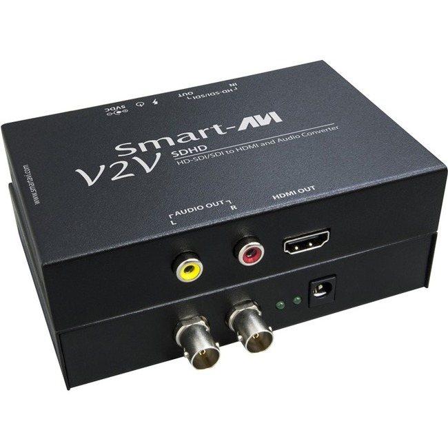 HD-SDI/SDI TO HDMI AND AUDIO CONVERTER. INCLUDES: V2V-SDHD (PS5VDC2A)