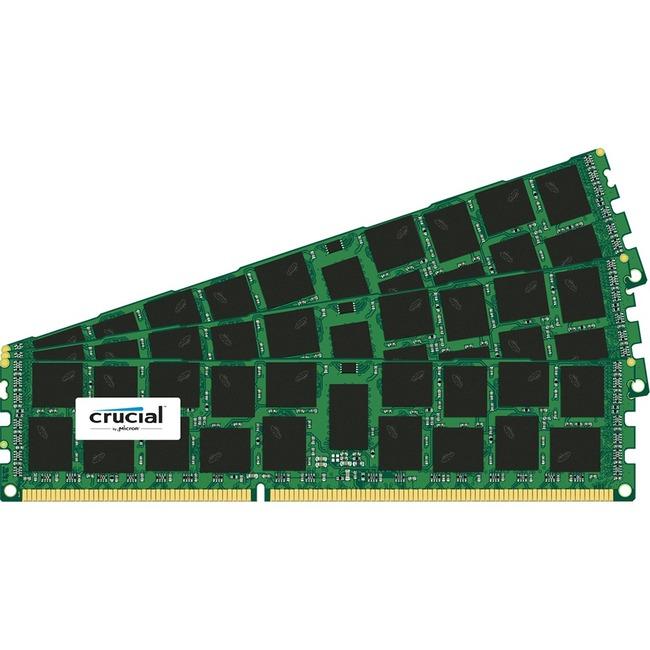 Crucial RAM Module - 48 GB 3 x 16 GB - DDR3 SDRAM - 1600 MHz DDR3-1600/PC3-12800 - 1.35 V - ECC - Registered - CL11 - 240-pin - DIMM