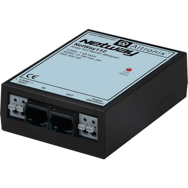 Altronix Single Port PoE Injector for Standard Network Infrastructure