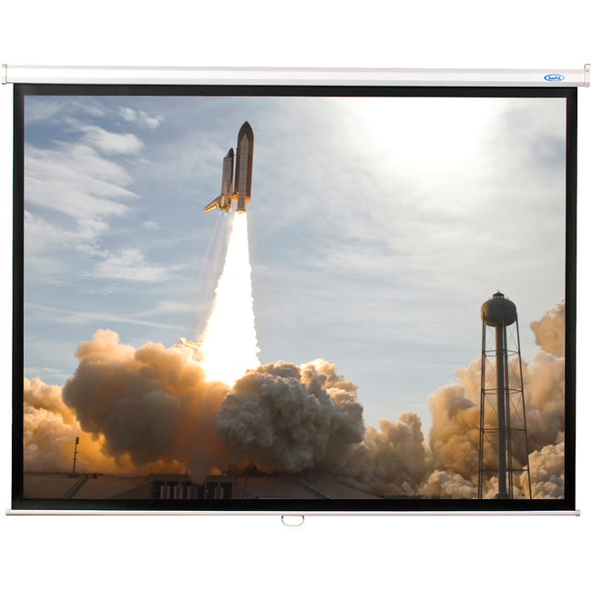 "Hamilton Buhl Manual Projection Screen - 113"" - 1:1 - Wall Mount, Ceiling Mount"