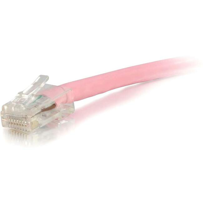 100ft Cat5e Non-Booted Unshielded (UTP) Network Patch Cable - Pink