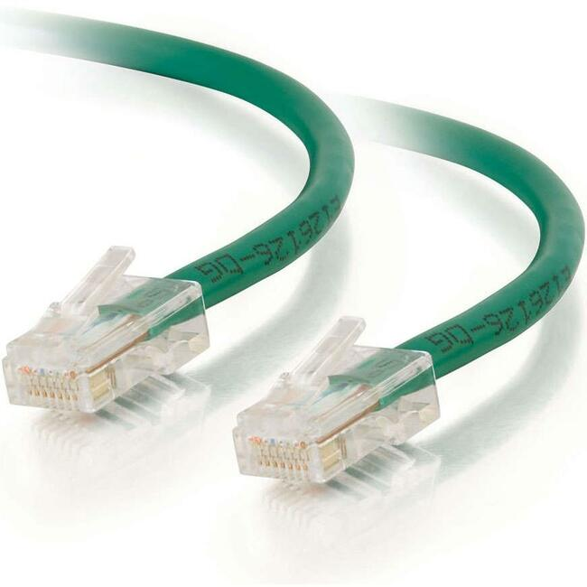 C2G 30ft Cat5e Non-Booted Unshielded (UTP) Network Patch Cable | Green