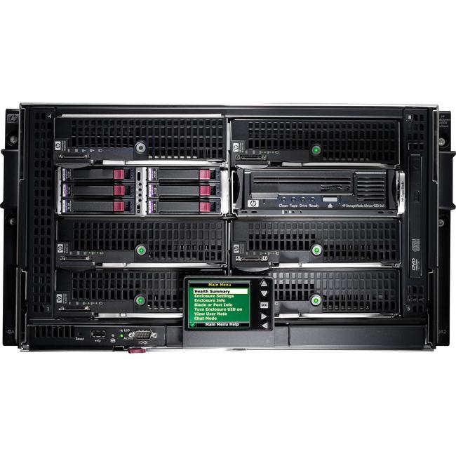 HP BLc3000 Platinum Enclosure with 4 AC Power Supplies 6 Fans ROHS 8 IC Lic