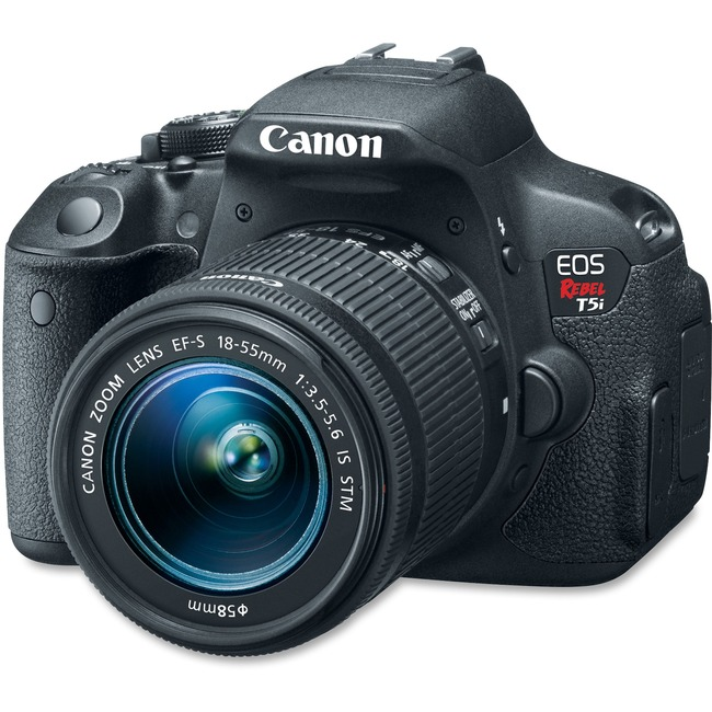 Canon EOS Rebel T5i 18 Megapixel Digital SLR Camera with Lens - 18 mm - 55 mm