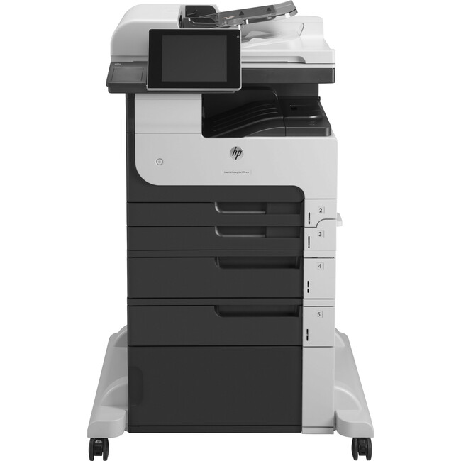 HP LaserJet M725F Laser Multifunction Printer - Monochrome - Plain Paper Print - Floor Standing