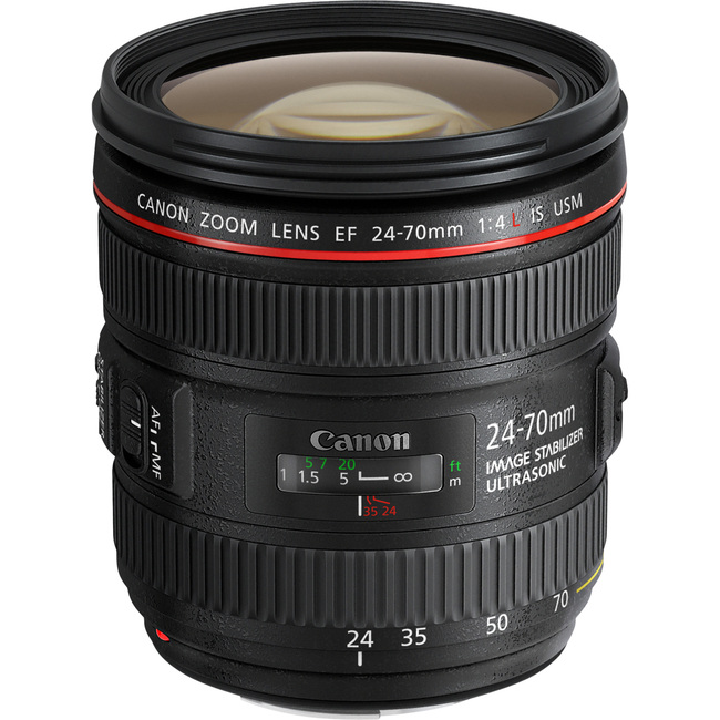 Canon - 24 mm to 70 mm - f/4 - Zoom Lens for Canon EF/EF-S