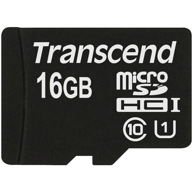 Transcend 16 GB UHS-I microSDHC - UHS-I - 1 Card
