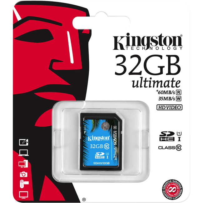 KINGSTON - DIGITAL IMAGING 32GB SDHC CLASS 10 UHS-I ULTIMATE FLASH CARD