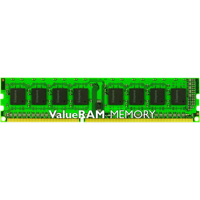 Kingston ValueRAM RAM Module - 8 GB 1 x 8 GB - DDR3 SDRAM - 1600 MHz DDR3-1600/PC3-12800 - 1.50 V - ECC - Registered - CL11 - 240-pin - DIMM
