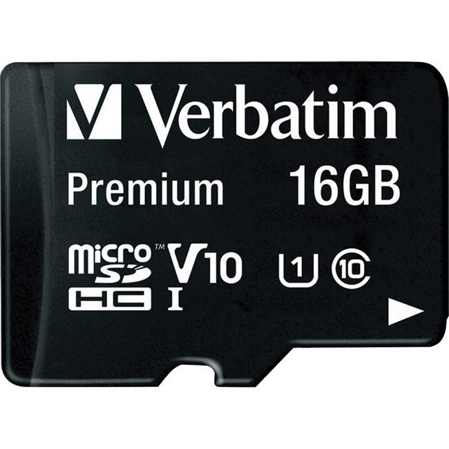 Micro SDHC w/Adapter, 16GB, Black