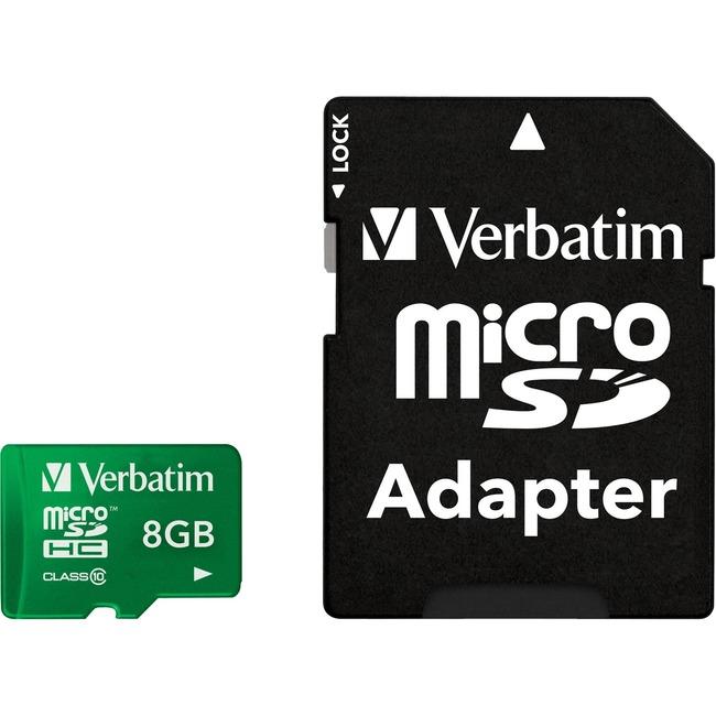 VERBATIM - AMERICAS LLC 8GB TABLET MICROSDHC MEMORY CARD UHS-1 CLASS10 GREEN