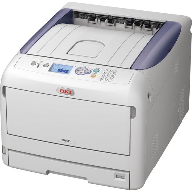 Oki C800 C831DN LED Printer - Color - 1200 x 600 dpi Print - Plain Paper Print - Desktop