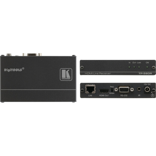 Kramer HDMI, Bidirectional RS-232 & IR over HDBaseT Twisted Pair Receiver