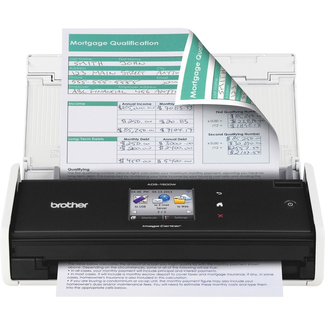 Brother ADS-1500W Sheetfed Scanner - 600 dpi Optical