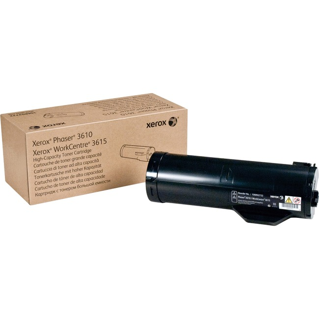 Xerox Black High Capacity Toner Cartridge, Phaser 3610, WorkCentre 3615 (14,100 Pages)