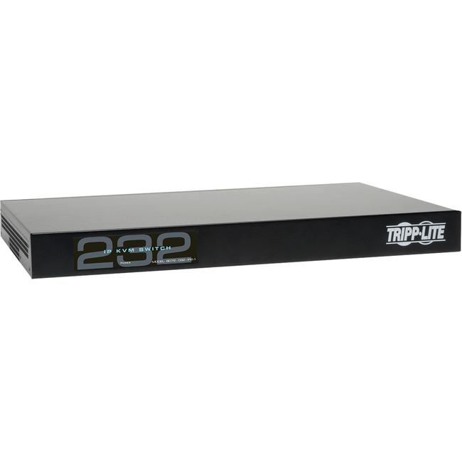 TRIPP LITE 32PORT 1-LOCAL 2-REMOTE USER CAT5 KVM OVER IP SWITCH 1U RM