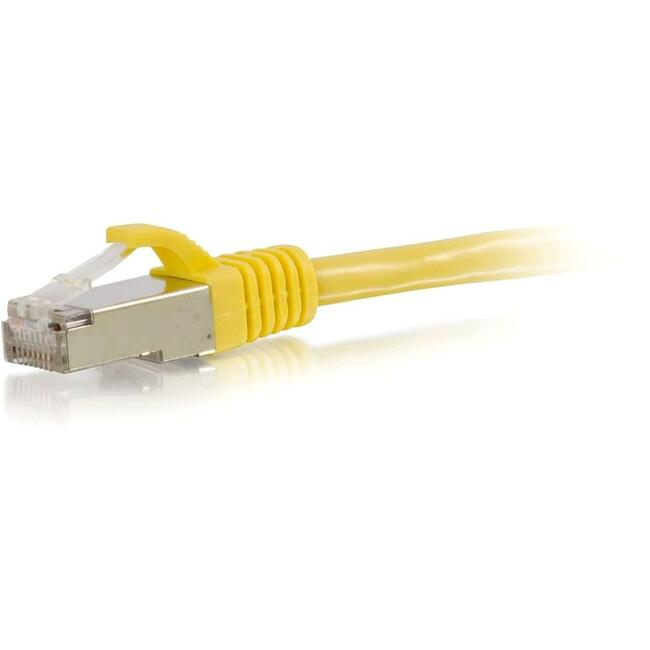 30ft Cat6 Snagless Shielded (STP) Network Patch Cable | Yellow