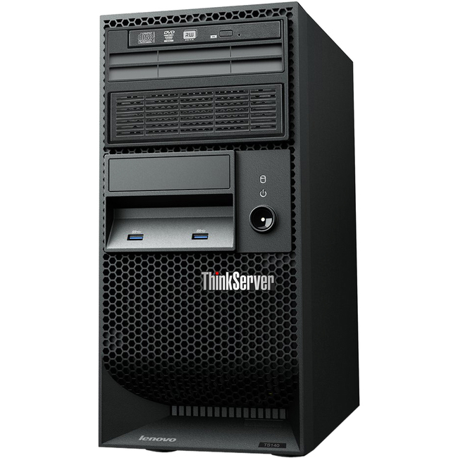 Lenovo ThinkServer TS140 70A4000FUX 5U Tower Server - 1 x Intel Core i3 (4th Gen) i3-4330 Dual-core (2 Core) 3.50 GHz