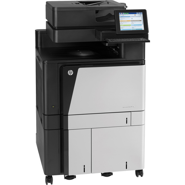 HP LaserJet M880z+ Laser Multifunction Printer - Color - Plain Paper Print - Floor Standing