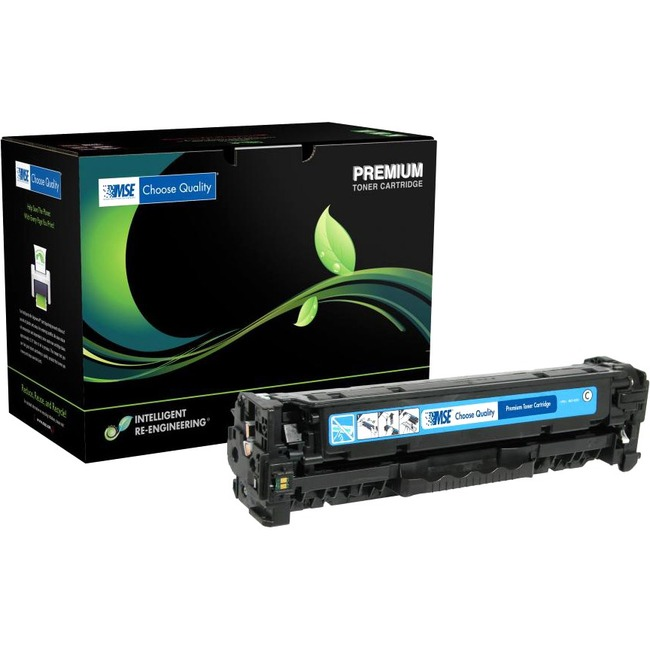 MSE Remanufactured Toner Cartridge - Alternative for HP (CC531A) - Cyan
