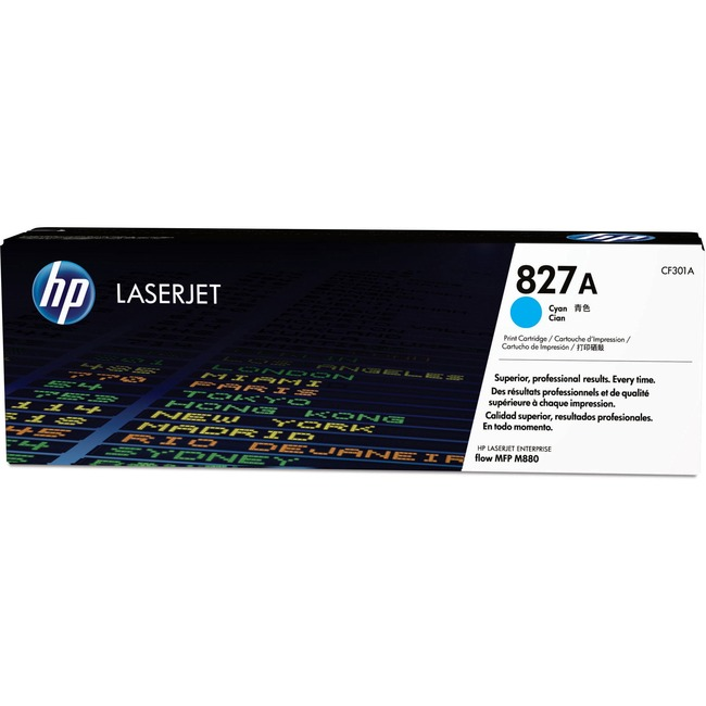 HP 827A (CF301A) Cyan Original LaserJet Toner Cartridge