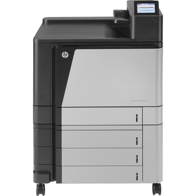 HP LaserJet M855xH Laser Printer - Color - 1200 x 1200 dpi Print - Plain Paper Print - Floor Standing